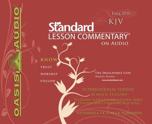 9781598597486: Standard Lesson Commentary (Fall 2010)