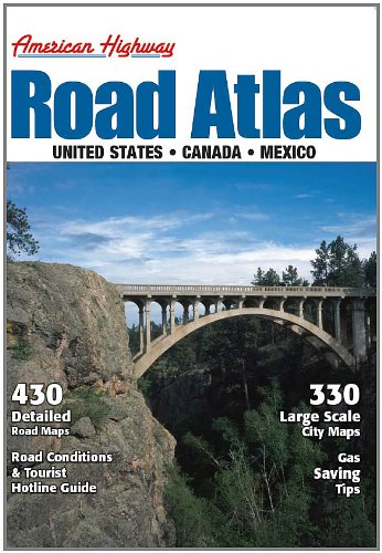9781598624328: 2012 American Highway Road Atlas of the U.S., Canada, & Mexico