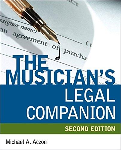 9781598635072: The Musician's Legal Companion