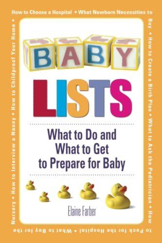 9781598692389: Baby Lists: What to Do and What to Get to Prepare for Baby