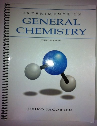 9781598710618: Experiments in General Chemistry