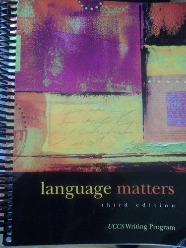 9781598712186: Language Matters, A Writing-about-Writing (WAW) Curriculum