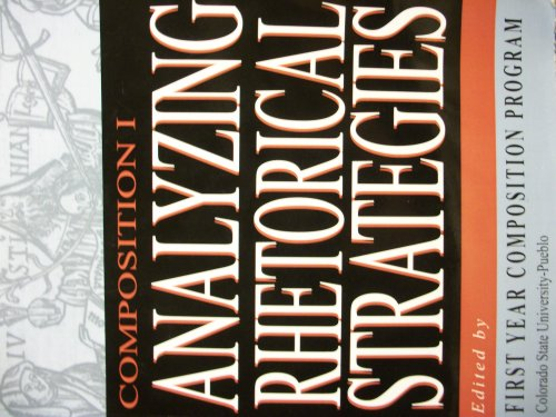 Analyzing Rhetorical Strategies: Dr. Donna McKinney Souder; Isaac R. Sundermann; Kevin W. Van ...