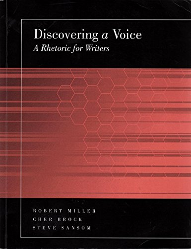 9781598712575: Discovering A Voice...A Rhetoric For Writers