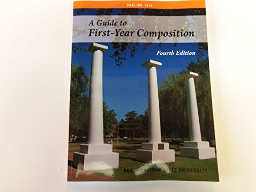 9781598714531: A Guide to First-year Composition English 1010 (Northwestern State University, Natchitoches, La)