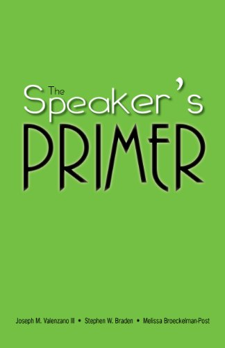 The Speaker's Primer: Joseph M. Valenzano