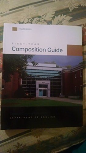 9781598716689: First-Year Composition Guide-- Coastal Carolina University Department of English