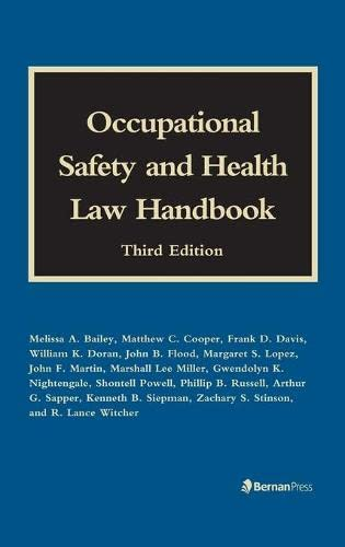 9781598886788: Occupational Safety and Health Law Handbook