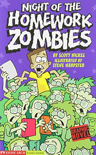 9781598891720: Night of the Homework Zombies (Graphic Fiction: Tiger Moth)
