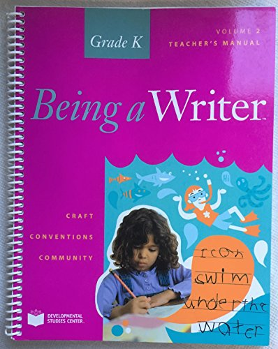 9781598922899: Being a Writer Grade K Vol 2 Teachers Manual