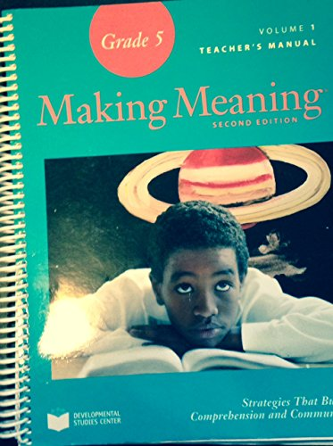9781598927443: Making Meaning Grade 5 Teacher's Manual Volume 1 (Second Edition)