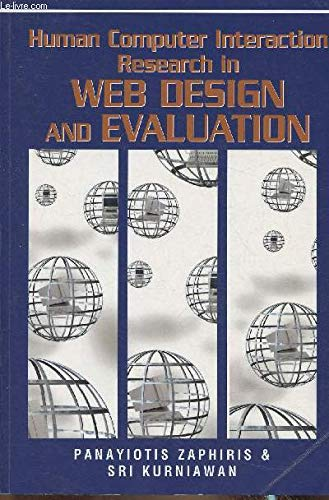 9781599042473: Human Computer Interaction Research in Web Design and Evaluation