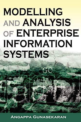 Modelling and Analysis of Enterprise Information Systems: Angappa Gunasekaran