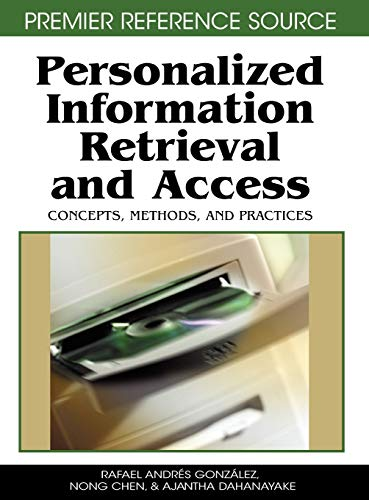 9781599045108: Personalized Information Retrieval and Access: Concepts, Methods and Practices