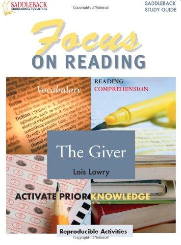 9781599051093: The Giver (Saddleback Focus on Reading Study Guides) (Focus on Reading (Saddleback))