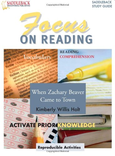 9781599051284: When Zachary Beaver Came to Town (Saddleback's Focus on Reading Study Guides) (Walch Literature Study Guides: Focus on Reading)