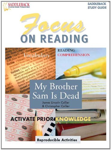 9781599055152: My Brother Sam is Dead (Focus on Reading Study Guide) (Enhanced eBook) (Saddleback's Focus on Reading Study Guides)