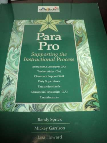 9781599090009: Para Pro: Supporting the Instructional Process
