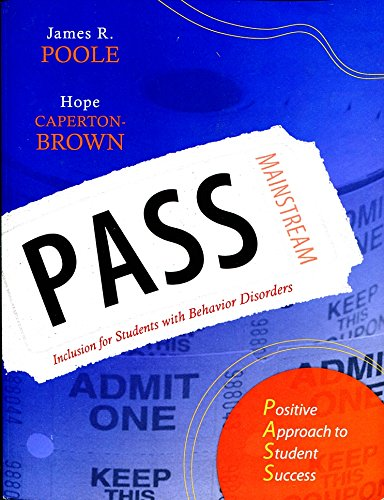 9781599090313: Pass: Positive Approach to Student Success: Inclusion for Students with Behavior Disorders (Book with CD-ROM)
