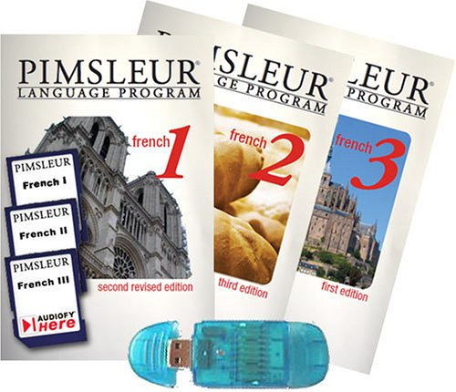 9781599120041: Pimsleur French I, II, III (Comprehensive) with Audiofy USB Reader (Audiofy Digital Audiobook Chips)