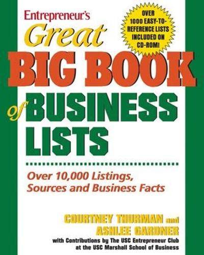 Great Big Book of Business Lists : Ashlee Gardner; Courtney