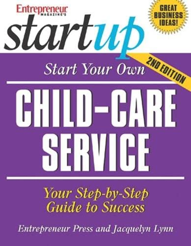 9781599180151: Start Your Own Child-Care Service