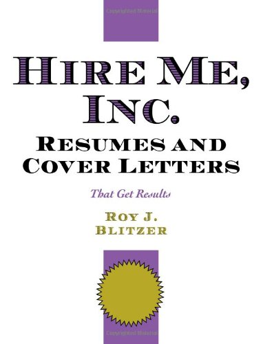 Hire Me, Inc. Resumes and Cover Letters: Roy Blitzer