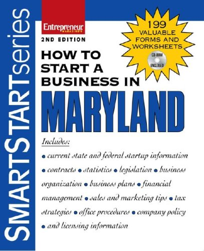 9781599181127: How to Start a Business in Maryland