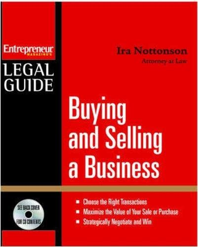 9781599181721: Buying and Selling a Business (Entrepreneur Legal Guides)