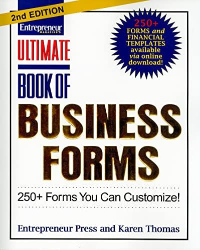 Ultimate Book of Business Forms (Ultimate Series): Entrepreneur Press; Thomas, Karen