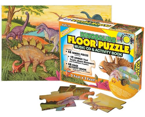 9781599223469: Dinosaurs Giant Floor Puzzle [With CD (Audio) and Activity Guide] (Giant Floor Puzzles)