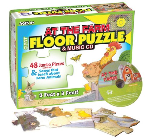 9781599223483: At the Farm Giant Floor Puzzle [With CD (Audio) and Activity Guide] (Giant Floor Puzzles)