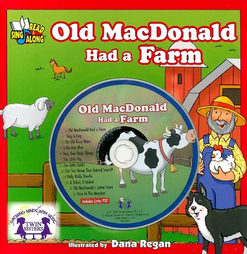 Old MacDoonald Had A Farm 8x8 Book & CD (Songs and Stories) (1599223694) by Twin Sisters Productions