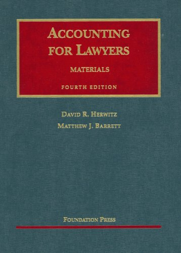 9781599410395: Accounting for Lawyers: Materials on (University Casebook Series)