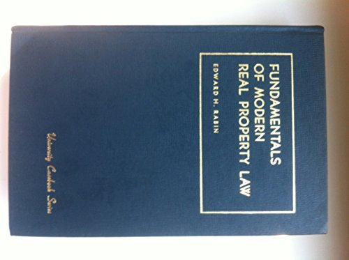 Rabin, Kwall and Kwall's Fundamentals of Modern Property Law, 5th (1599410532) by Edward H. Rabin