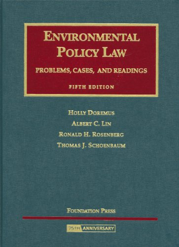 9781599410593: Environmental Policy Law: Problems, Cases and Readings (University Casebook Series)