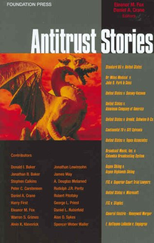 9781599410920: Fox and Crane's Antitrust Stories (Stories Series) (Law Stories)