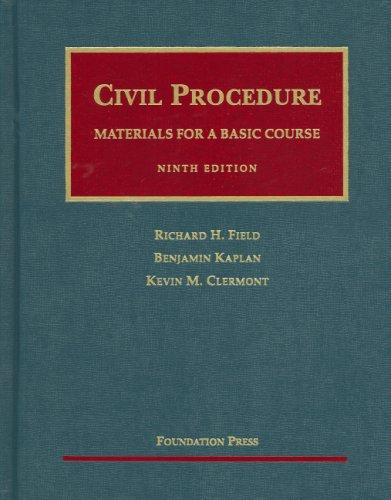 9781599411453: Civil Procedure- Materials for a Basic Course (University Casebook)