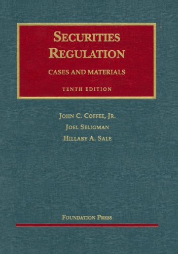 9781599411972: Securities Regulation: Cases and Materials (University Casebook)