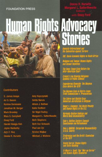 9781599411996: Human Rights Advocacy Stories (Law Stories)
