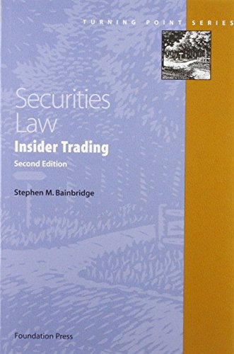 9781599412290: Securities Law: Insider Trading (Turning Point Series)