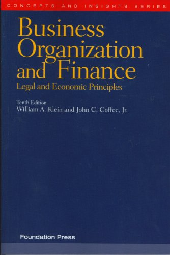 9781599412320: Business Organization and Finance: Legal and Economic Principles (Concepts & Insights)