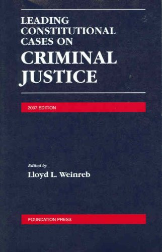 9781599412412: Leading Constitutional Cases on Criminal Justice