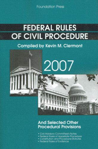 9781599412696: Federal Rules of Civil Procedure and Selected Other Procedural Provisions