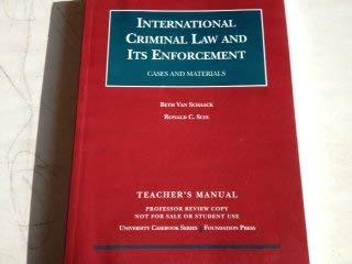 9781599412740: International Criminal Law and Its Enforcement