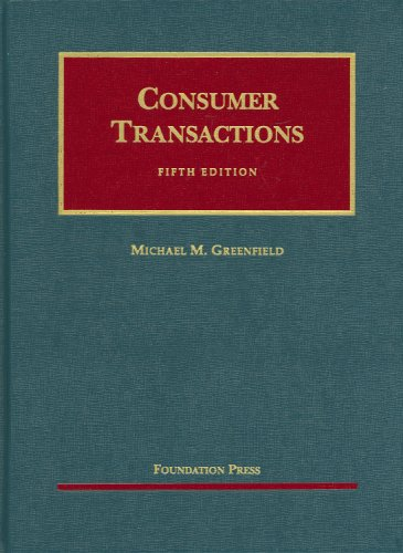 9781599413341: Greenfield's Consumer Transactions, 5th (University Casebook Series) (English and English Edition)