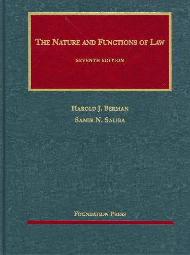 9781599413372: The Nature and Functions of Law (University Casebook Series)