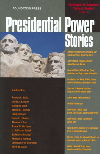 9781599413730: Presidential Power Stories (Law Stories)