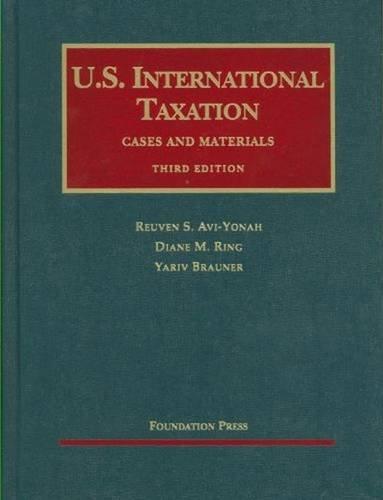 9781599413761: U.S. International Taxation (University Casebook Series)