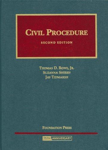 9781599413938: Civil Procedure (University Casebook)